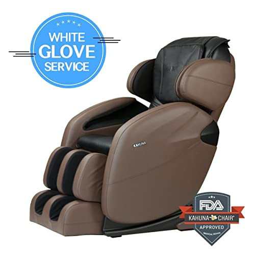 Space-Saving Zero-Gravity L-Track Full-Body Kahuna Massage Chair Recliner LM6800 - Best for Space-Saving