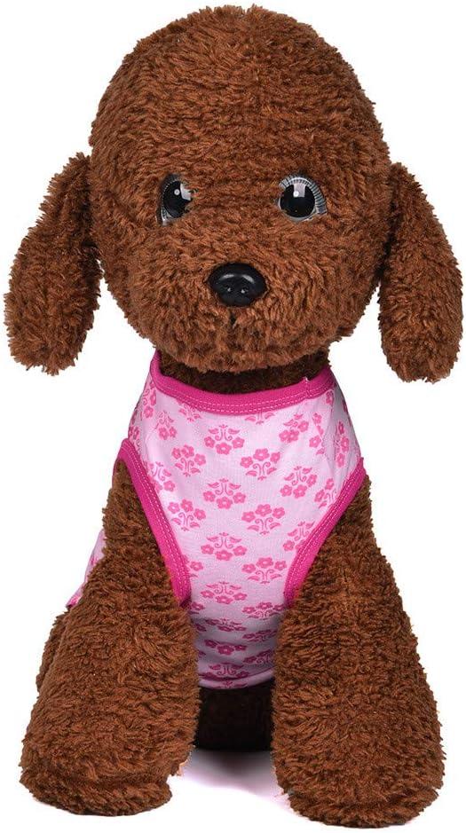 Coversolat Hundekleidung Kleine Hunde Sommer Hund T-Shirt mit Blumen Muster Shirt Weste Hundeshirt