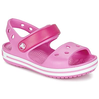 455aa9c4883dc0 Crocs Crocband Sandal Kids Sandals Girls Pink Sandals  Amazon.co.uk  Shoes    Bags