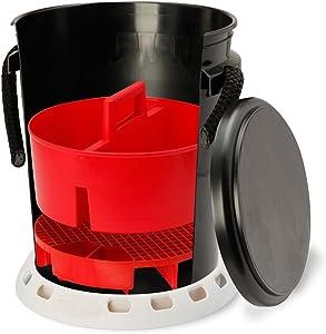 Shurhold 2464 5 Gallon Black Deluxe Bucket Kit, 1 Pack