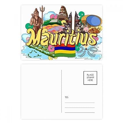 DIYthinker Siete Gracias tarjeta de color Tierra Mauricio ...
