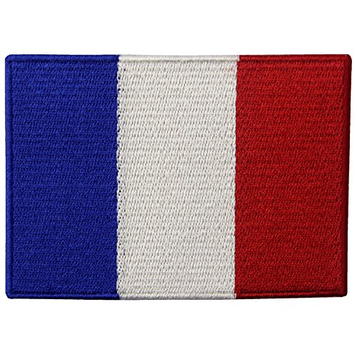 EmbTao France Flag Embroidered Emblem French Applique Iron On / Sew On Patch (Flag Patches Sew On compare prices)