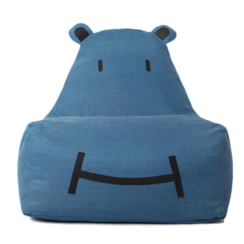 OLizee Creative Bear Bean Bag Chair for Kids Lovely Tatami Linentte Fabric Cartoon Lazy Sofa, 27.6'' X 26'' X 26.4''(Denim Blue)
