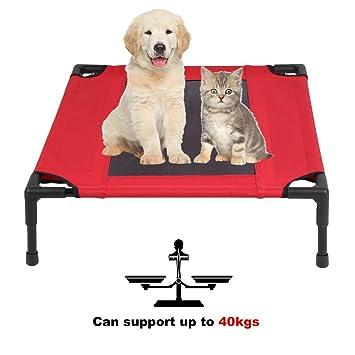 Sweepid Marco de Tubo de Acero Transpirable para Mascotas, Perros, Gatos, Cama Plegable