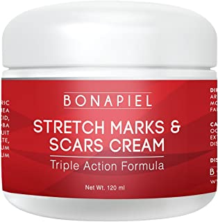 Bonapiel Stretch Mark & Scar Cream - Formula for Scar Removal & Prevention for Men &