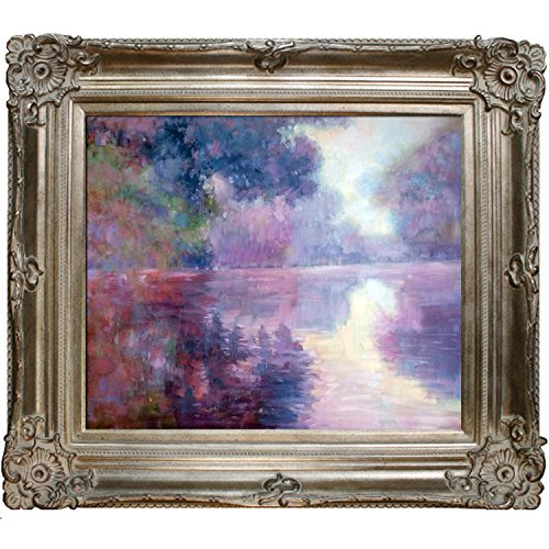 overstockArt Misty Morning on The Seine by Monet with Renaissance Champagne Frame (Renaissance Champagne Frame)