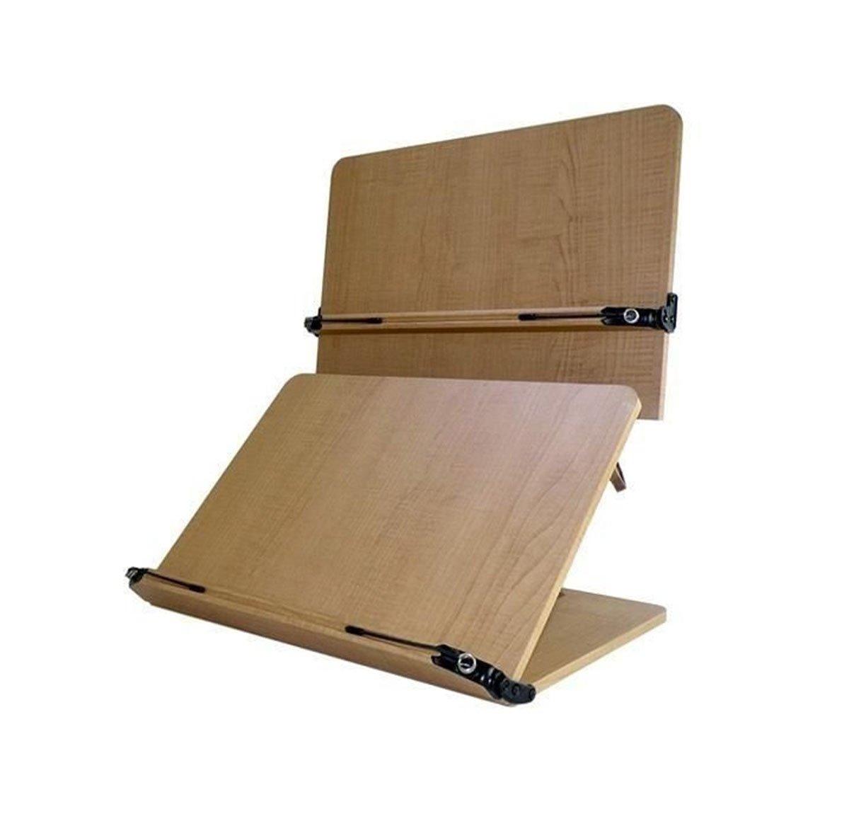 Book Stand Holder Reading Desk Desktop Book Stands Office Supplies 2nd Stage Wood MDF W 16''