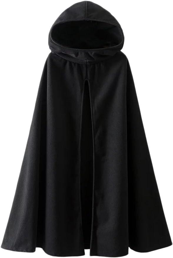 Capuchon Ext/érieur De La Tenue Des Vestes Gothique Avant Ouvert Cape Poncho Manteau Manteaux