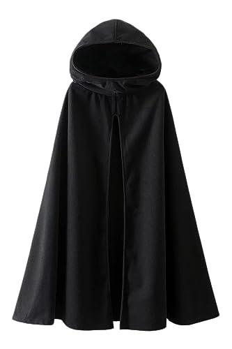 Mujeres Outwear Abrigos Chaquetas Con Capucha De Gotica Frente Abierto Capa Poncho Manteau