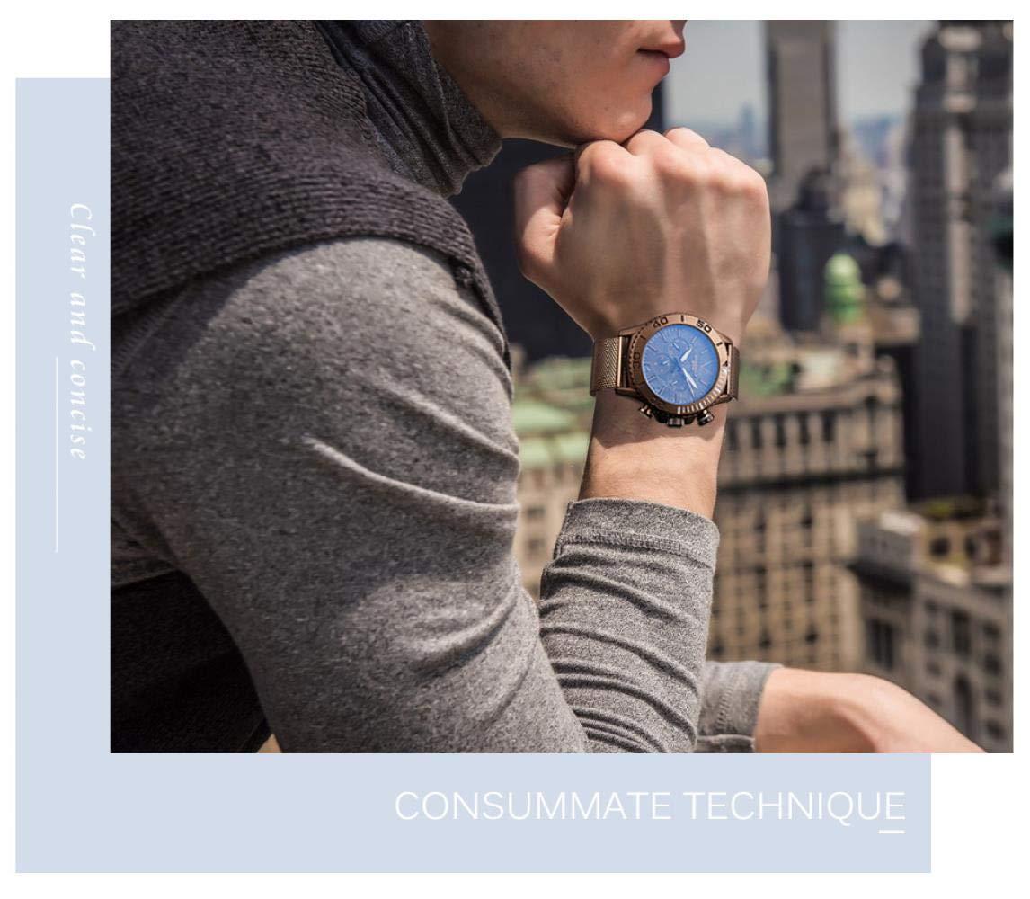 Armbandsur, stor urtavla 3D klocka färgglad polariserat läderarmband dubbel tidszon klocka Black Shell Red Scale