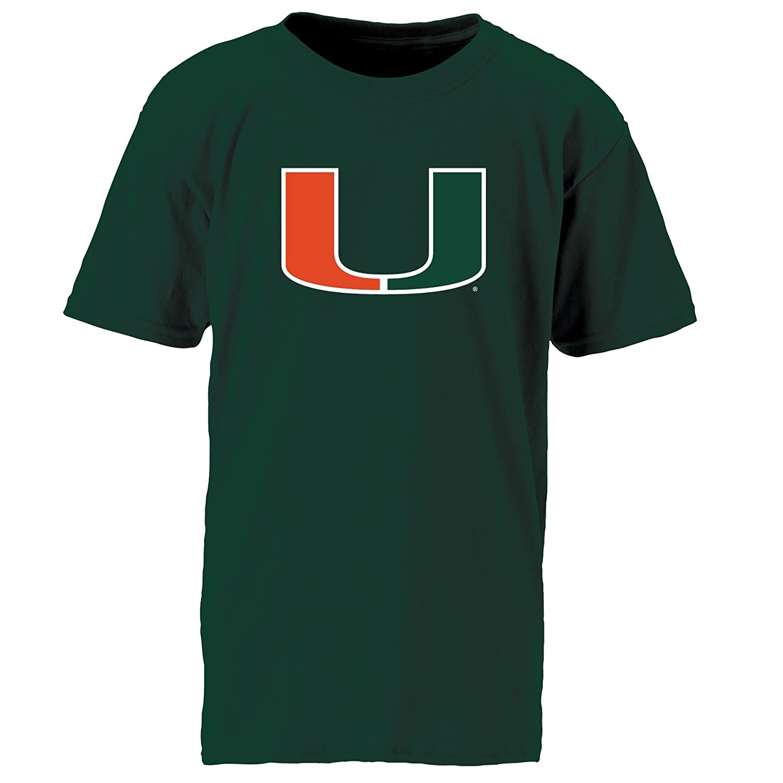 Athletic Hunter NCAA Miami Hurricanes Mens Youth Ouray Short Sleeve Tee Small