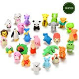 30PCS Japanese Erasers for Kids, Assorted Animal Erasers Collectible Set of Mini Kwaii Style by Sakiyr