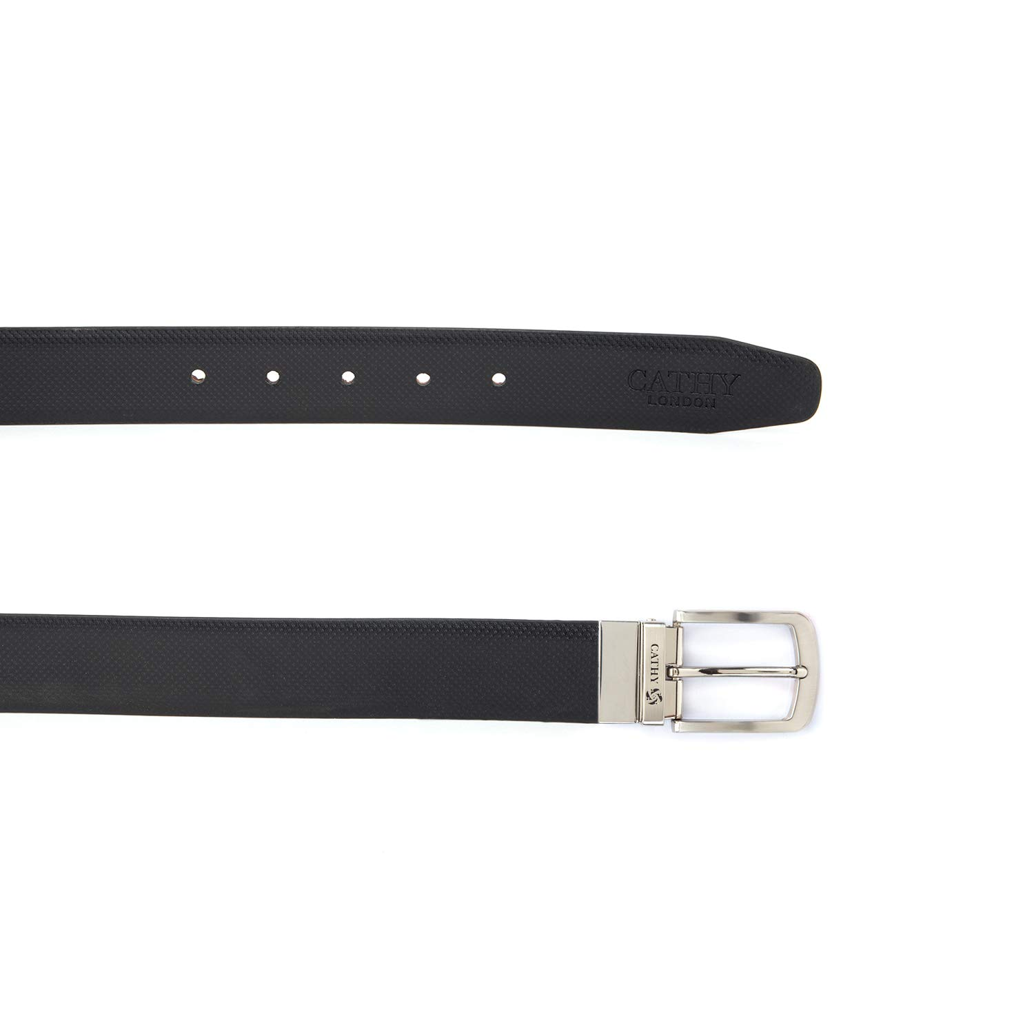 Cathy London Cut-to-Size Reversible PU Leather Belt Black,Brown