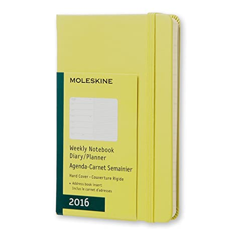 Moleskine 2016 Weekly Notebook, 12M, Pocket, Hay Yellow, Hard Cover (3.5 x 5.5)