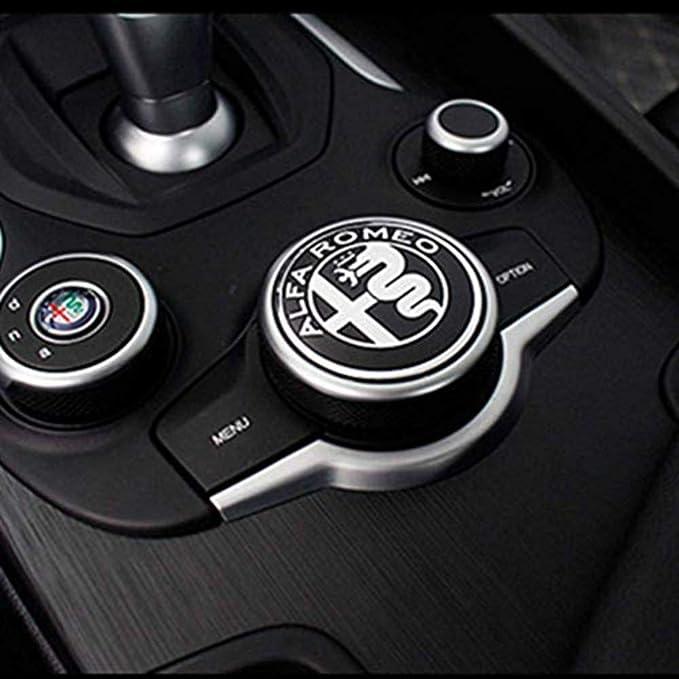 Auto Multimedia Knopf Dekoration Ring Abdeckung Aufkleber Für Alfa Romeo Giulia Stelvio 2017 2020 Auto Styling Zubehör Auto