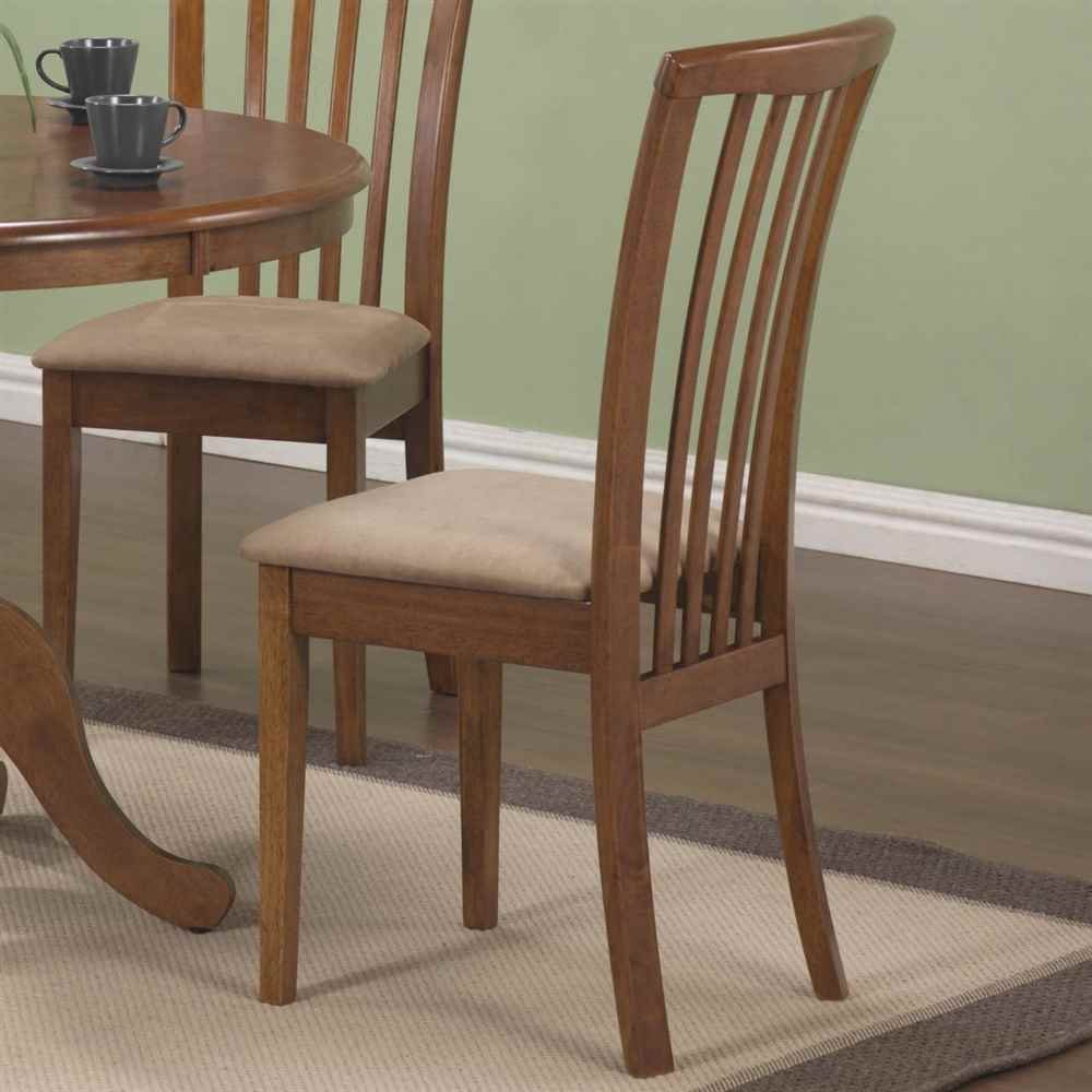 Amazon.com - Coaster Brannan Slat Back Side Chair with Upholstered ...
