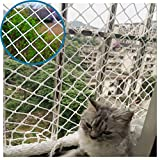 WHH Garden Netting,Kid's Cat Stairs Balcony Fence Anti-Fall Protective Safety Mesh Decoration Goal Cargo Net,for Railings Indoor Stairs Playground Outdoor Ceiling Nylon Football Field,Customization