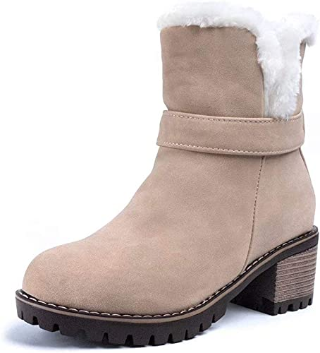 Winter Ankle Boots Women Fur Lined Snow