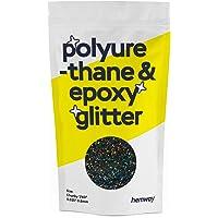 "Hemway | Polyurethaan & Epoxy Glitter - Chunky - 1/40"" 0.6mm - Gun Metaal Holografisch/100g"