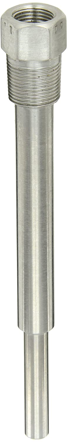 PIC Gauge TW-SS09-23S2 9' Stem Length, 1/2' NPT x 3/4' NPT Connection Size, Stepped Style, 0.260' Bore Diameter, 316 Stainless Steel Standard Thermowell for Industrial Bimetal Thermometers 1/2 NPT x 3/4 NPT Connection Size 0.260 Bore Diameter PIC Gauges