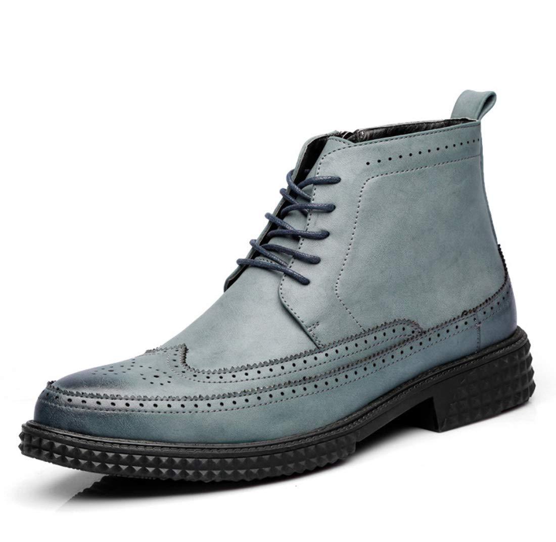 DANDANJIE Herren Ankle Stiefel Büro Lederschuhe britischen Stil Seitlichem Reißverschluss Geschäft Herbst Oxford