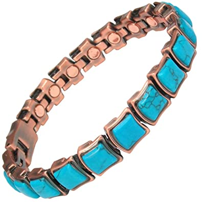 MPS VENICE Magnetic Bracelet for Women, with Assorted Stones, ARTHRITIS PAIN THERAPY + FREE Links Removal Tool