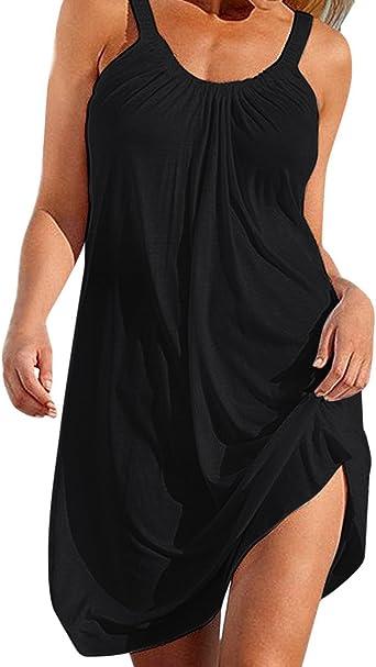 Femme Robe D Ete Grande Taille Chemise Robe De Plage Causal Sans Manches Cocktail Tunique Blouse Bikini Cover Up Amazon Fr Vetements Et Accessoires