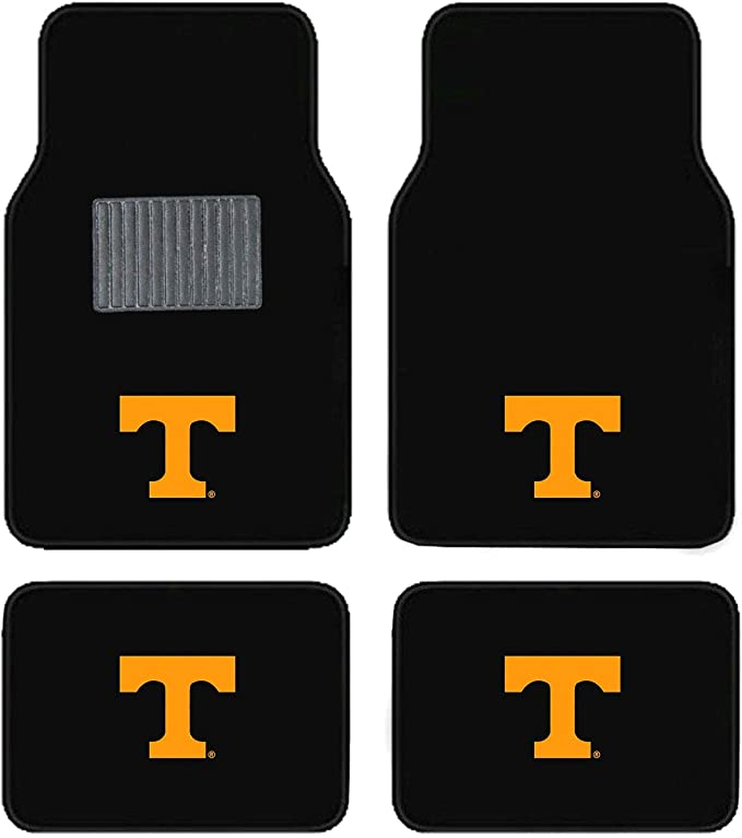 FANMATS NCAA University of Tennessee Volunteers Nylon Face Deluxe Car Mat
