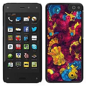 EJOY---Cubierta de la caja de protección para la piel dura ** Amazon Fire Phone ** --Amarillo abstracto 3D Patrón