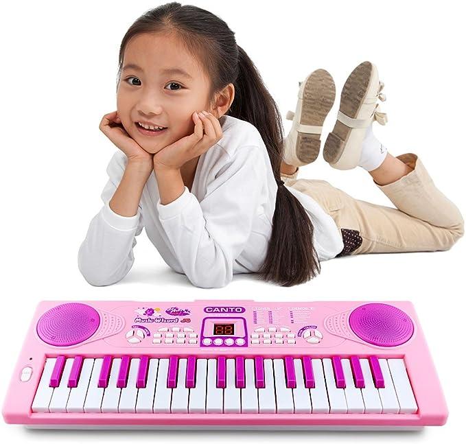 Piano para niños, Shayson 37 Teclado electrónico multi-función ...
