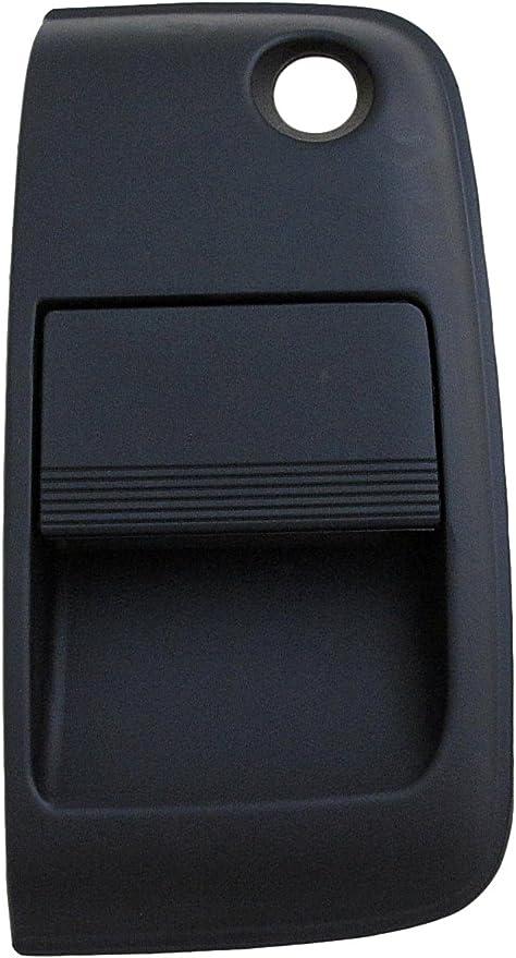 Black and Chrome Dorman 96623 Rear Exterior Door Handle for Select Kia Models