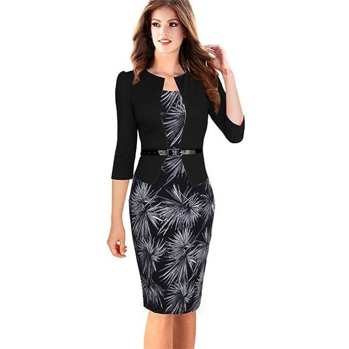 fe6408534550 Faux monopezzo Jacket breve modelli eleganti abiti di lavoro Office Bodycon  3 4 femmina o manicotto pieno Tubino  Amazon.it  Abbigliamento