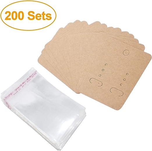Karten Ohrring Kartenhalter Lagerung H/ängende Ohrring Blank Cards 200er-Pack Ohrstecker Ohrstecker Schmuck Halsketten