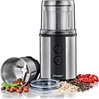 Cloer 7419 elektrisk kaffe- och kryddkvarn med slagknivar i rostfritt stål, 350 W, 2 avtagbara rostfria behållare, för…