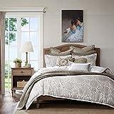 King Size Comforter Sets 110 X 96 Madison Park Signature Sophia King Size Bed Comforter Set Bed In A Bag - Ivory, Jacquard – 9 Pieces Bedding Sets – Ultra Soft Microfiber Bedroom Comforters
