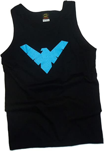213ae3b879877 Amazon.com  DC Comics Nightwing Logo - Batman Tank-Top Shirt  Clothing
