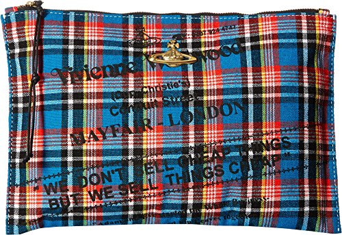 Vivienne Westwood  Men's Africa Pouch Blue One Size by Vivienne Westwood