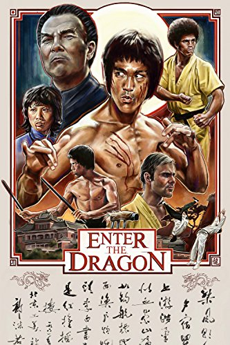 (Enter the Dragon Movie Fan Art Poster 24x36)