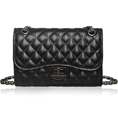 dc7b5a7e1e Solarfun Classic Crossbody Shoulder Bag for Women Quilted Purse With Metal  Chain Strap: Handbags: Amazon.com
