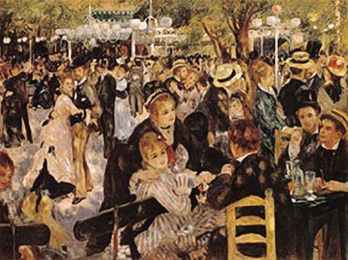 Pierre Auguste Renoir Ball at the Moulin de la Galette Art Print Poster by HSE (Renoir Ball At The Moulin De La Galette)