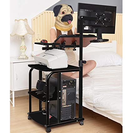 uk availability 651a8 8635e KOMOREBI Adjustable Over Bed Table Overbed Table on Wheels ...
