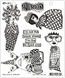 Ranger Sheep Dyan Reaveley's Dylusions Cling Stamp Collections, 8.5 by 7'', Black