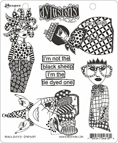 Ranger Sheep Dyan Reaveley's Dylusions Cling Stamp Collections, 8.5 by 7'', Black by Ranger