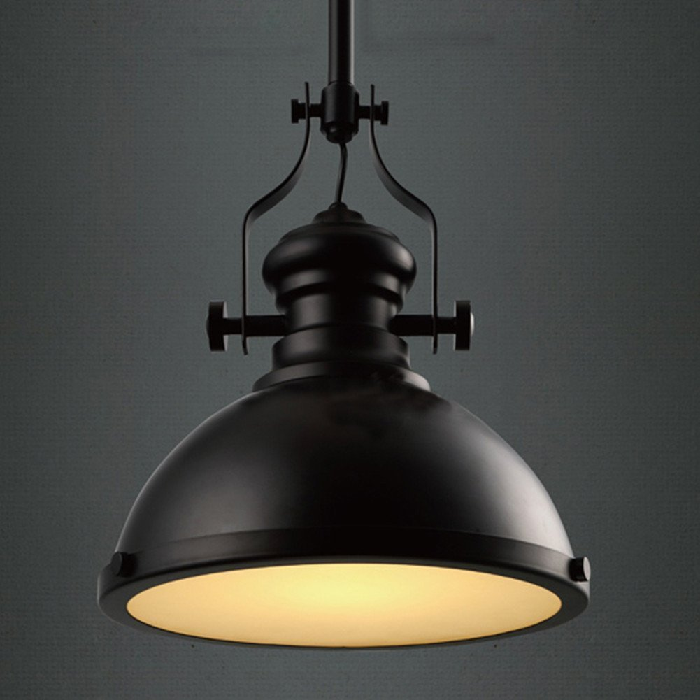 RUXUE Black Industrial Ceiling Light Retro Pendant Fixtures Lamp Chandelier Lighting for Kitchen Living Room by RUXUE