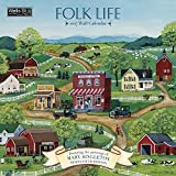 Wells Street by Lang 2017 Folk Life Wall Calendar, 12 x 12 inches, January to December 2017 (17997001727)