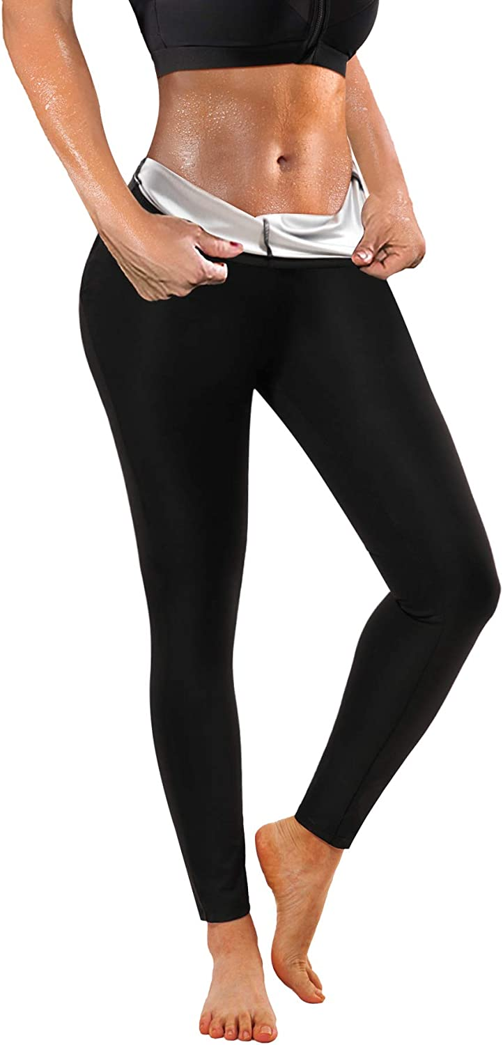Ursexyly Women Sauna Sweat Pants Training Leggings Gym Fitness Exercise Capri Pants Workout Hot Thermo Body Shaper