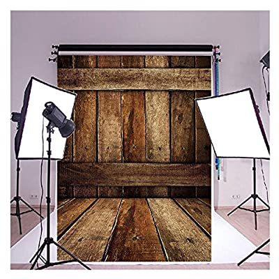 2-3 Business Days Fast Delivery Vinyl Cloth Rough Big Board Wooden Bred Floor Studio Photo Photography Background Studio Backdrop Props best for Personal Photo, Wall Decor 5x7ft