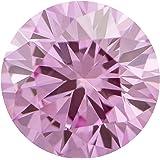 1.03 Ct. | Round | Crocus Pink Color | VS1 Clarity | U.S. Man Made Diamond