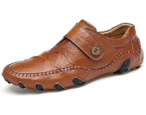 Chaussures en Cuir Occasionnels des Hommes, Chaussures Légères de Marche de  Mode de Haricot Paresseux 3b84dcffdc75