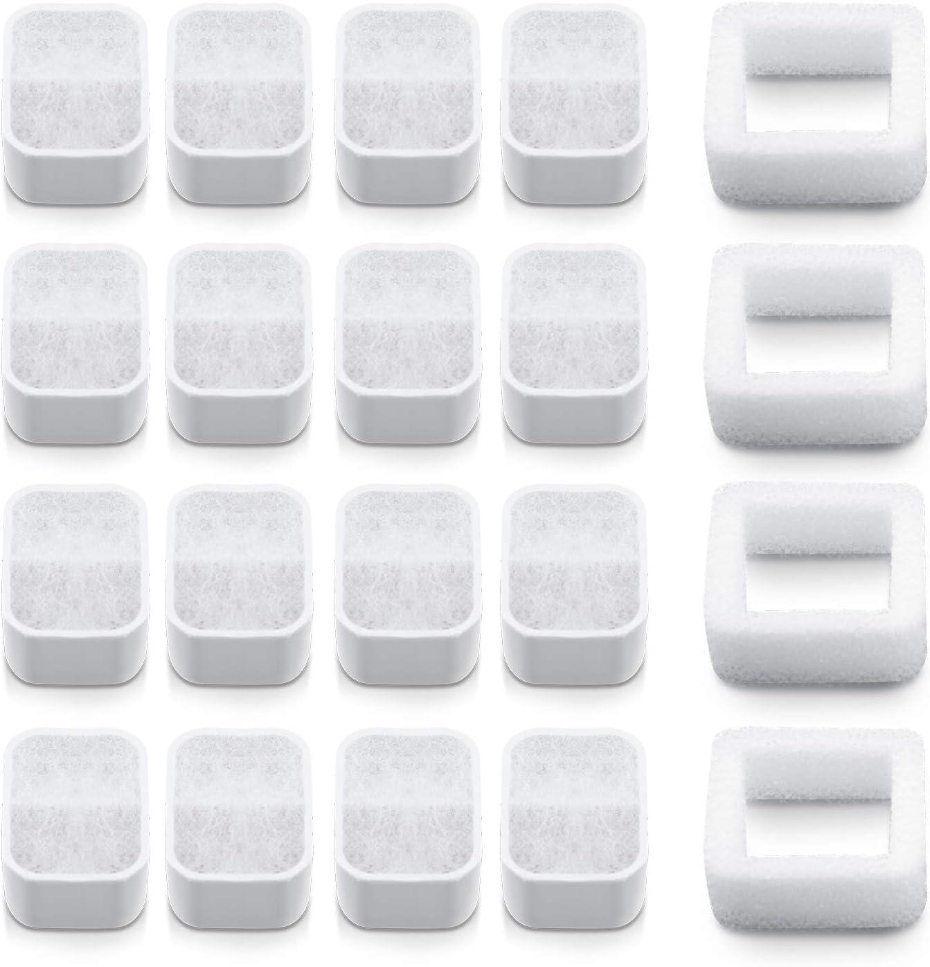 NautyPaws Filters for iPettie Tritone Ceramic Pet Drinking Fountain, Fiumi/Vekonn Ceramic Pet Fountain(16+4)